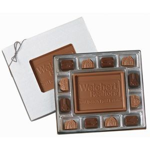 12 Piece Gift Box of Chocolates w/ Chocolate Centerpiece