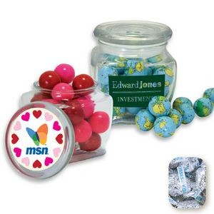 Reusable Glass Spice Jar Filled w/ Wrapped Hershey Kisses