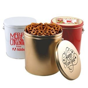 1 Gallon Gift Tin w/Pretzels