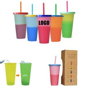 Color Changing Straw Cup