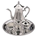 Custom Hotel Collection Silver 4 Piece Coffee Service Set