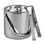 Custom 1.5 Quart Classic Stainless Steel Ice Bucket w/ Tongs