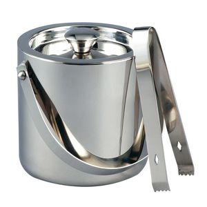 1.5 Quart Classic Stainless Steel Ice Bucket w/ Tongs