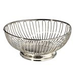 Custom Silver Plated Oval Wire Basket (9