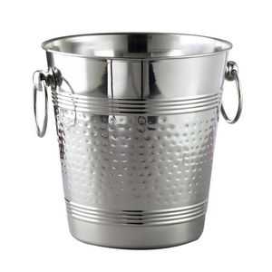 Hammered Stainless Steel Wine Cooler Bucket (8 1/2x7 1/2)