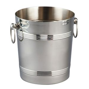 Deluxe Stainless Steel Wine Cooler/ Ice Bucket (8 1/4x9)