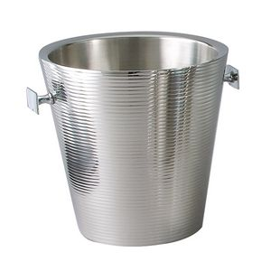 9 Lines Double Wall Stainless Steel Wine Cooler/ Ice Bucket