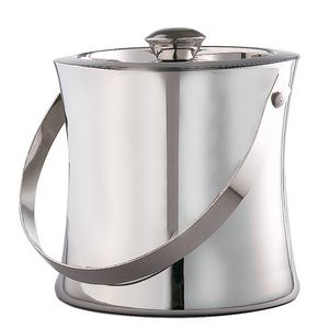 Elegance Collection Stainless Steel Concave Ice Bucket