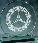 Custom Jade Crystal Circle Award w/ Base (6