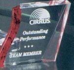 Custom Acrylic Award w/ Red Accents (4