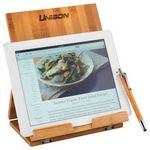 Custom Tablet or Recipe Book Stand with Ballpoint Stylus