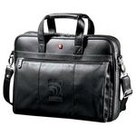 Custom Wenger Executive Leather Business Briefcase