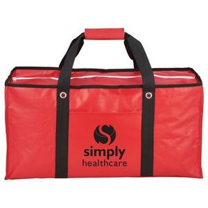 Oversized Laminated Non-Woven Zippered Tote