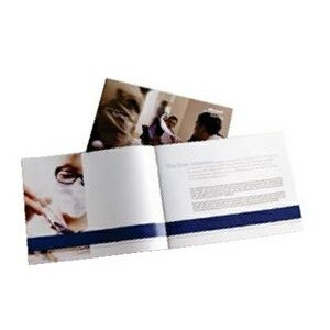 "2 Sheet Brochure w/ 8 Pages Stitched (11""x8 1/2"" Sheet Size)"