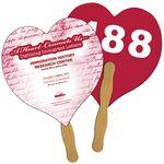 Custom Heart Auction Hand Fan Full Color