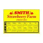 Custom 30 Mil Rectangle Large Size Calendar Magnet w/ Top Imprint & Full Outline (