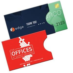 "RFID Open Thumb Gift Card Holder Printed Full Color (3 3/4"" x 2 1/2"")"