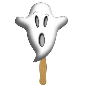 Scary Character Ghost Spirit Stock Shape Fan/Mask