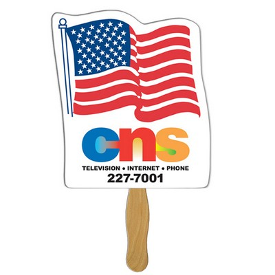 USA Flag Fast Hand Fan (1 Side) 1 Day