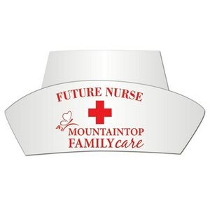 Nurse's Poster Board Hat w/ Elastic Band
