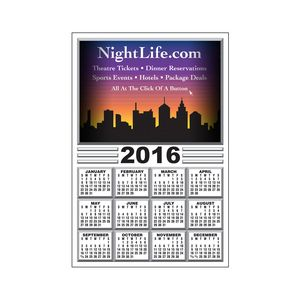 20 Mil Rectangle Large Size Calendar Magnet w/ Centralized Year (6x3 1/2)