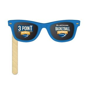 "Sunglasses Full Color on 6"" Stick (2 Sides)"