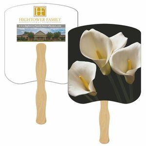 Lilies Hand Fan Full Color (2 Sides)