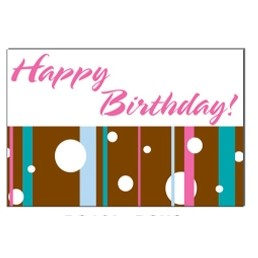 "Striped Happy Birthday Stock Postcard (4""x6"")"