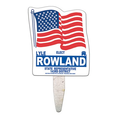 Flag Seed Stick Mini Hand Fan
