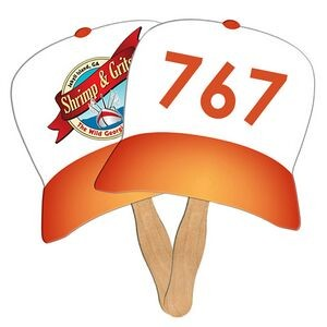 Baseball Hat Auction Sandwiched Hand Fan Full Color