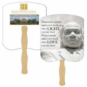 Dr. Martin Luther King Jr. Stone Hand Fan Full Color (2 Sides)