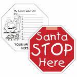 Custom Holiday Fun Santa Stop Here Window Sign