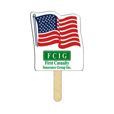 Flag Mini Hand Fans Full Color (2 Sides)