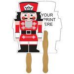 Custom Holiday Fun Nutcracker Fan w/ Stocking Cap