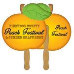 Custom Peach Hand Fan Full Color (2 Sides)
