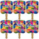Custom Wisdom/Mercy/Love/Faith/Truth/Hope Hand Fan Stock Graphic