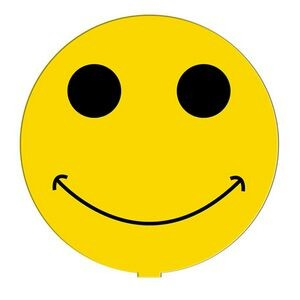 Smiley Face Hand Fan Without Stick