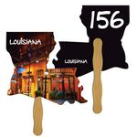 Custom Louisiana State Auction Hand Fan Full Color