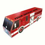 Custom Fire Truck Bank with pre-printed stock grahics