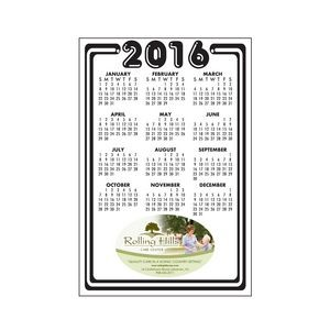 "20 Mil Rectangle Large Size Calendar Magnet w/ Bottom Imprint Area (6""x3 1/2"")"