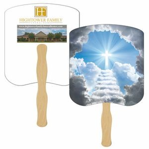 Stairway to Heaven Hand Fan Full Color (2 Sides)