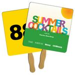 Custom Square Auction Sandwiched Hand Fan Full Color