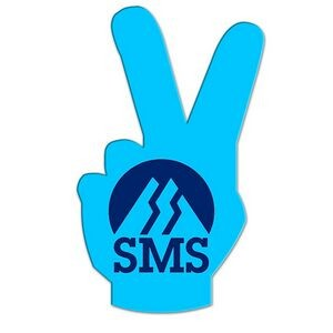 Peace Sign Hand Fan Without Stick