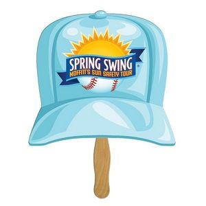 Baseball Cap Sandwiched Hand Fan Full Color