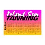 Custom 20 Mil Rectangle Large Size Calendar Magnet w/ Top Imprint & Year on Left (