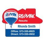 Custom RE/MAX House Magnetic Note Holder (20 Mil)