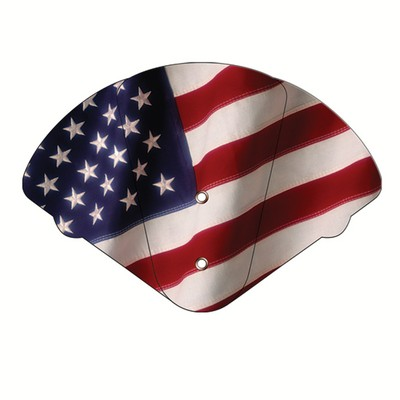 American Flag Inspirational Expandable Hand Fan Stock Graphic