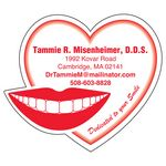 Custom 30 Mil Smile & Heart Large Size Magnet