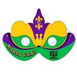 Custom Digital Printed Mardi Gras Mask w/ Elastic Strap