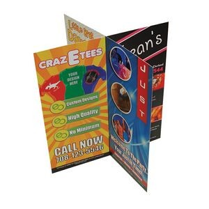 "Digital Printed 8 Sided Table Tents w/ 2 Part (9""x4"")"